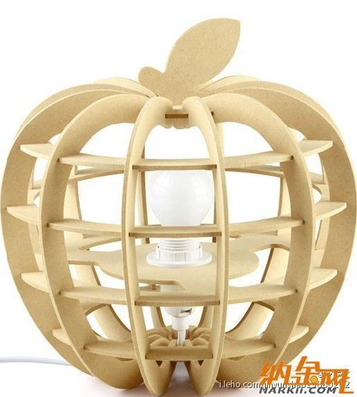 木制DIY苹果造型台灯(可调光)