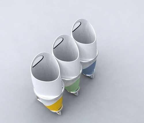 创意分类垃圾桶设计欣赏