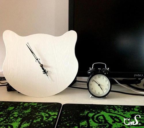 大脸猫简约挂钟设计