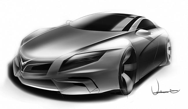 国内汽车设计师汽车手绘作品