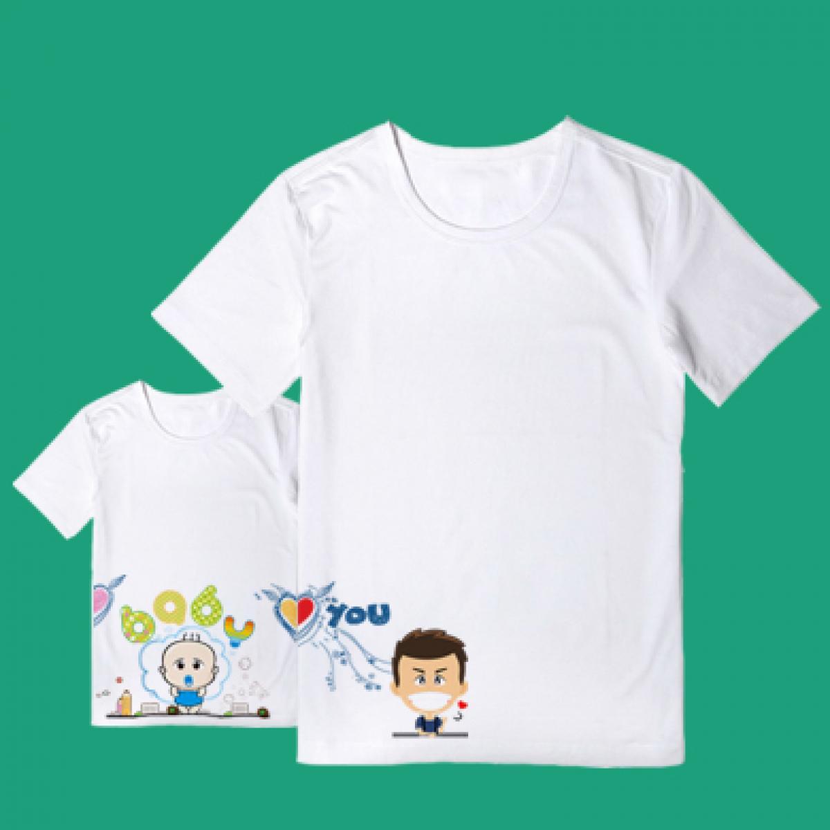 新款AR增强现实亲子情侣T恤