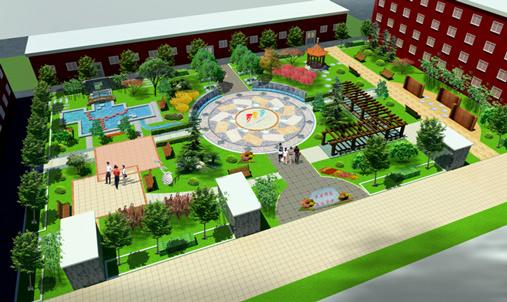 贴近自然 三帆中学校园景观设计