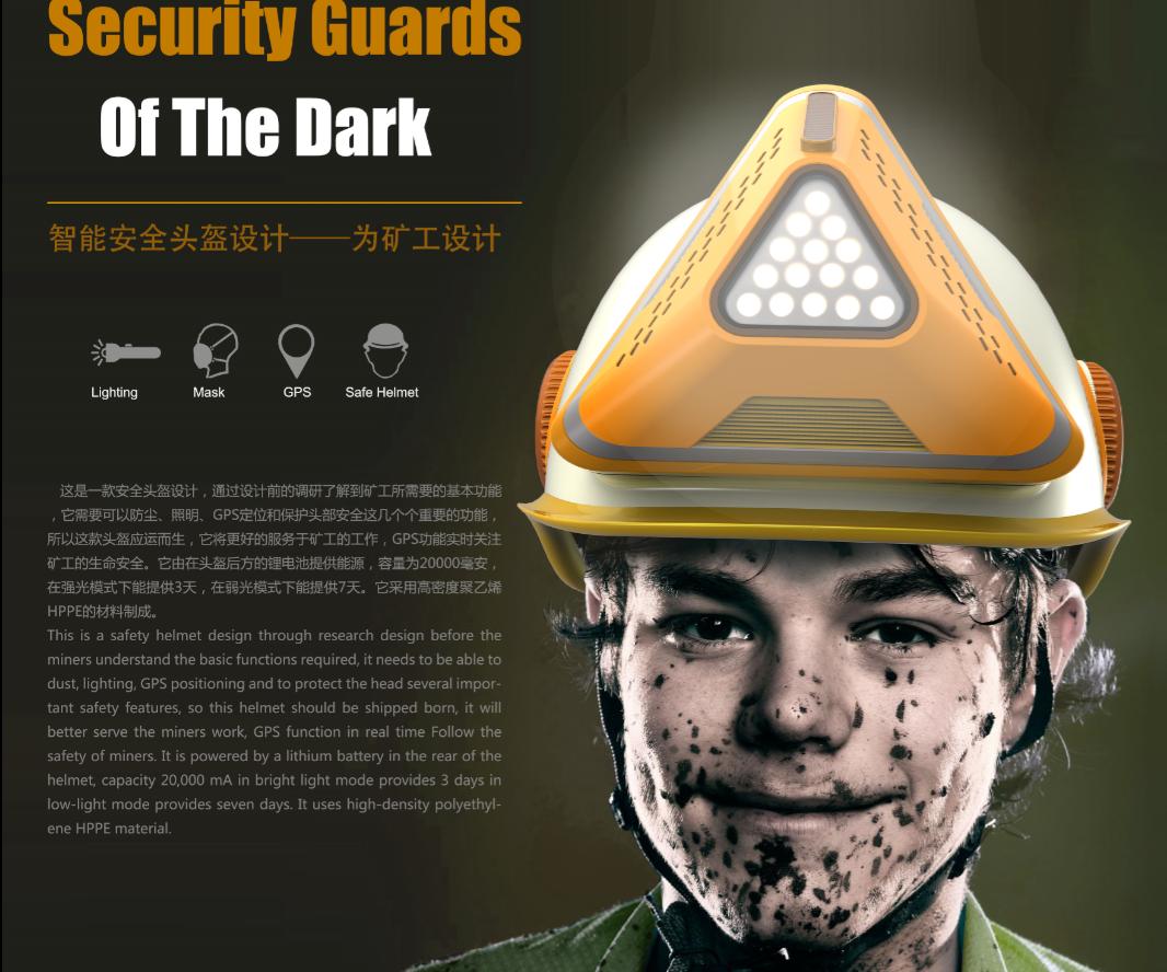 智能安全头盔设计-为矿工设计