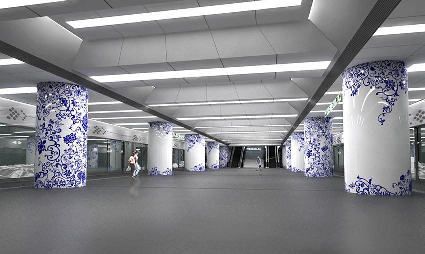 北京奥运支线地铁室内设计