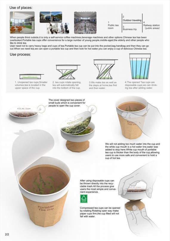 红点获奖作品Portable Tea Cup