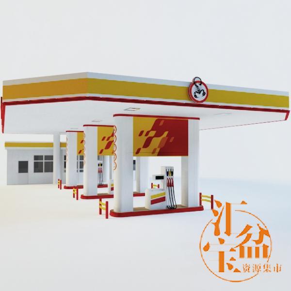 gasoline filling station 汽车加油站模型