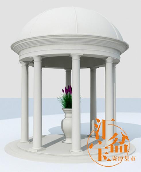 Gazebo 欧式凉亭3d模型