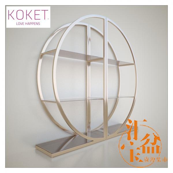 Bookcase Decadence by Koket 圆形书架模型