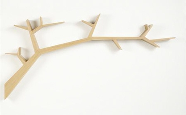 树枝形状创意书架隔板设计