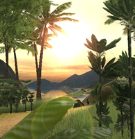 island+3D虚拟实景漫游-交互式3D