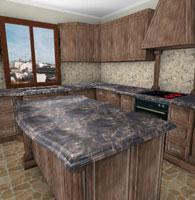 厨房空间装修展示-交互式3D