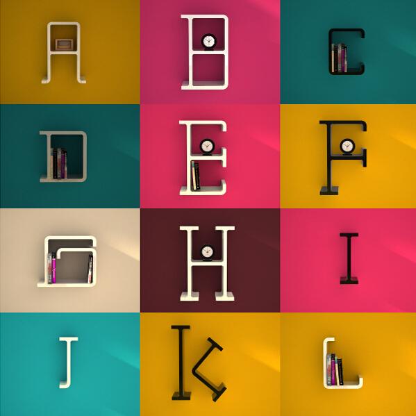 字母创意隔板