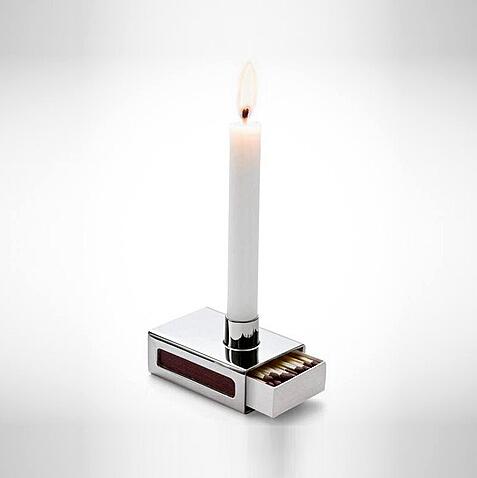 创意火柴盒烛台