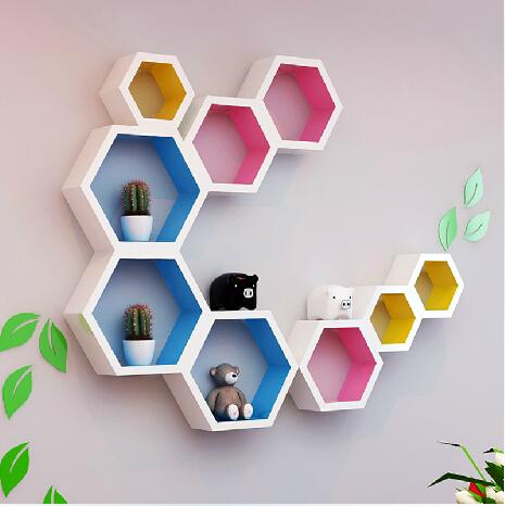彩色菱形创意隔板
