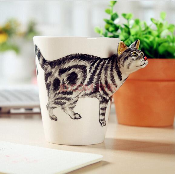 创意陶瓷动物马克杯