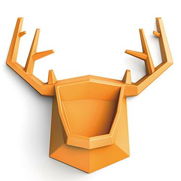 鹿头壁挂收纳架