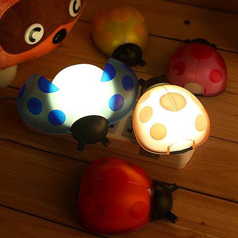 创意甲壳虫声光控感应灯