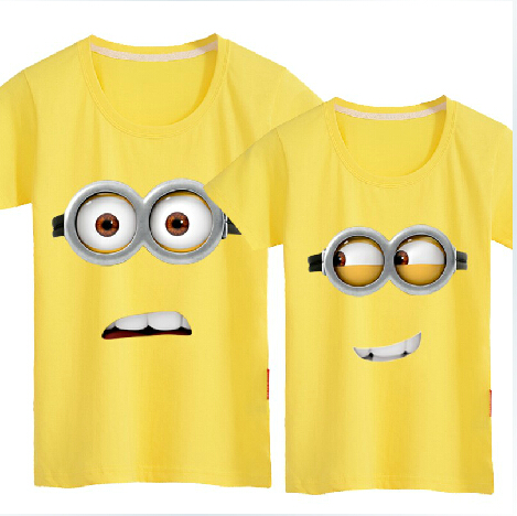 小黄人创意情侣t恤