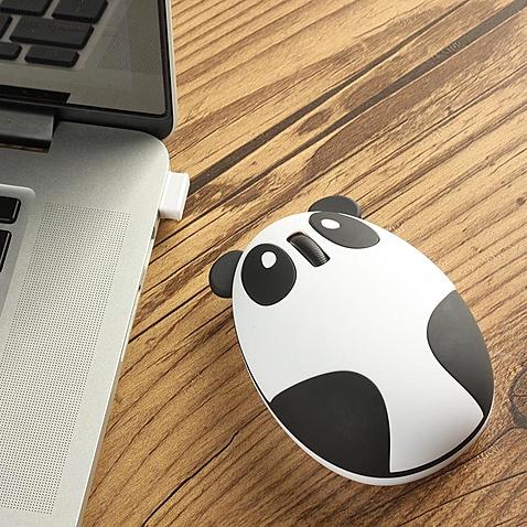 创意可充电熊猫鼠标
