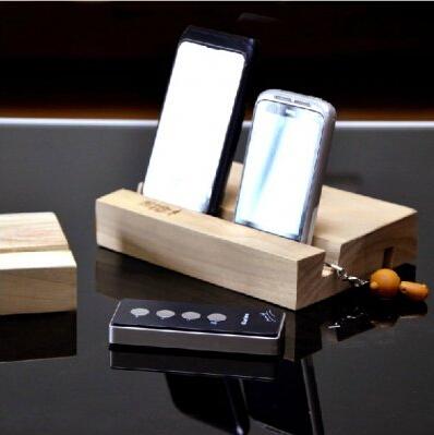 创意iPhone6木质收纳座