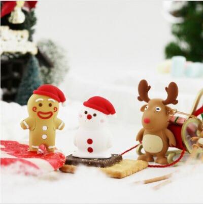 创意圣诞礼物麋鹿雪人U盘