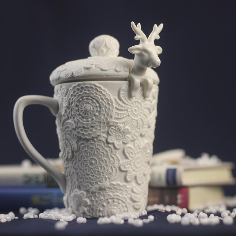 浮雕陶瓷马克杯-创意产品
