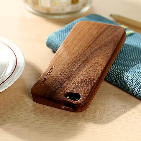 黑胡桃木质创意手机壳-创意产品