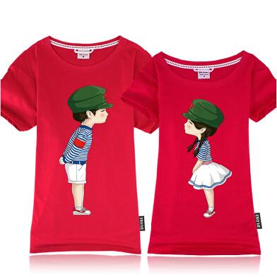 青涩年华创意情侣T恤