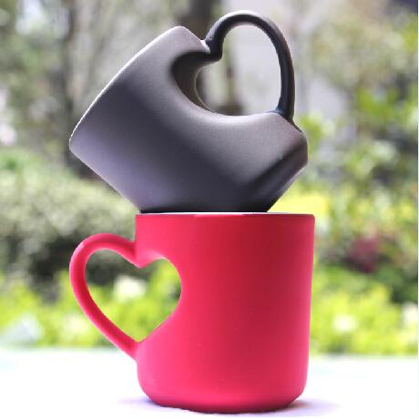 DIY创意爱心陶瓷马克杯
