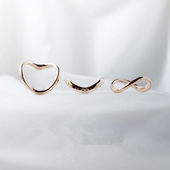 创意纯银恋人戒指