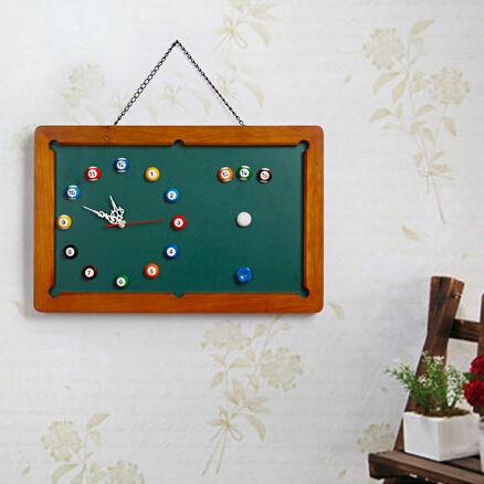 DIY小黑板桌球挂钟