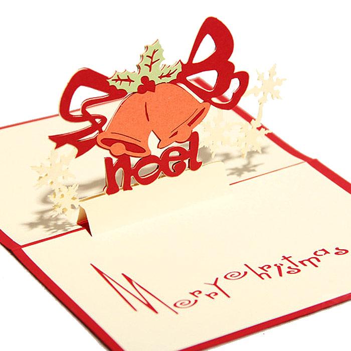 圣诞铃铛立体创意贺卡
