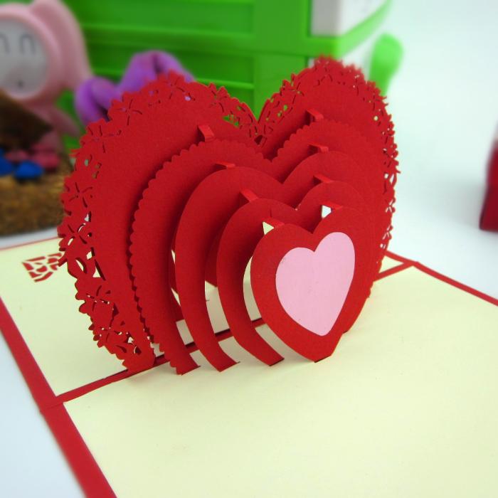 情人节心心相印3D创意贺卡