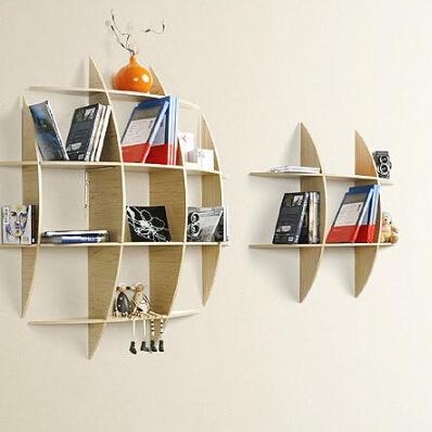 创意井子架隔板壁挂书架