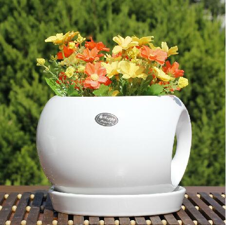 創意半球陶瓷花盆