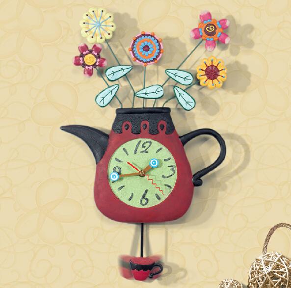 艺术花瓶创意挂钟设计