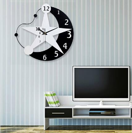 个性月亮创意挂钟