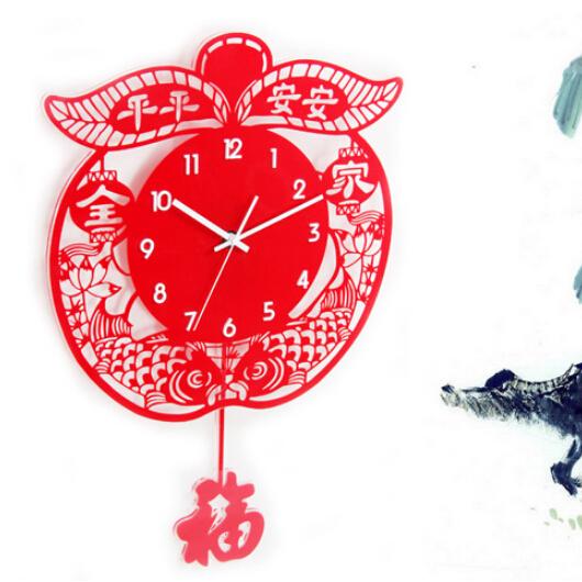 时尚客厅新年挂钟