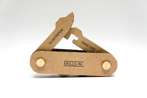 创意设计之瑞士军刀名片