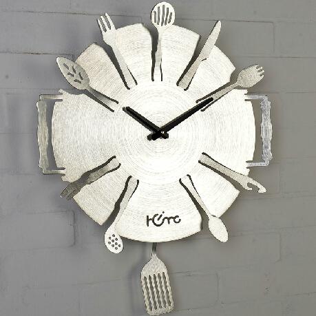 创意厨房餐厅厨具挂钟设计