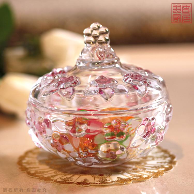 水晶玻璃糖果储物罐