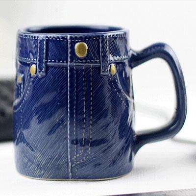 创意陶瓷马克啤酒杯