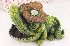 个性创意树脂鳄鱼烟灰缸