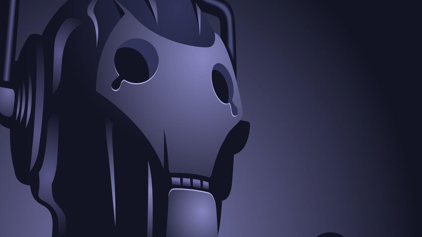 个性机械脸的3D壁纸