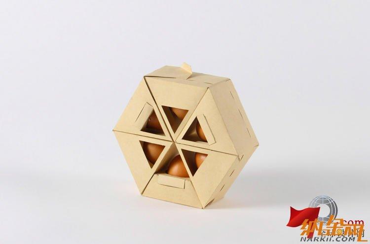 高端大气的创意鸡蛋包装盒设计