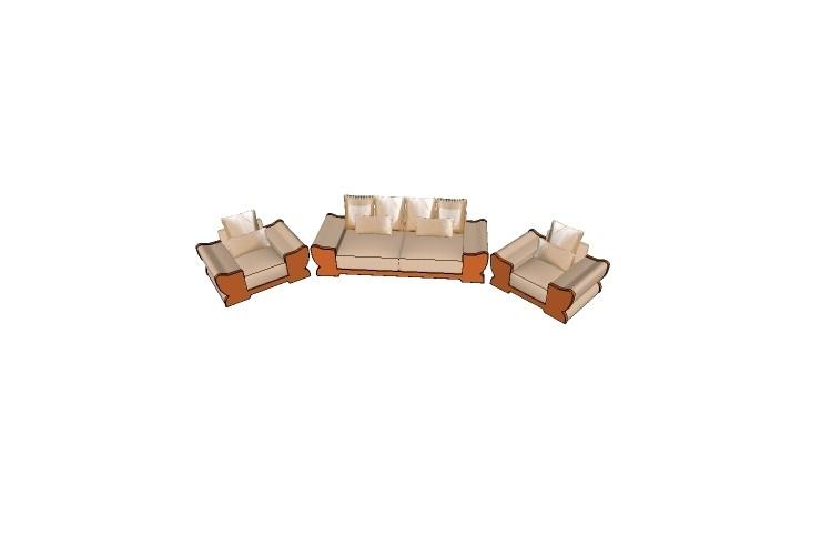 欧式大沙发 sketchup模型