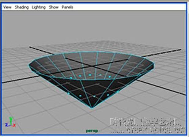 参考图像上的切割边缘挤压钻石模型的边缘,执行命令edit 高清图片