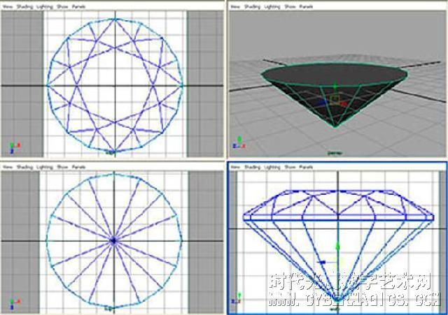 钻石雕刻maya建模教程高清图片