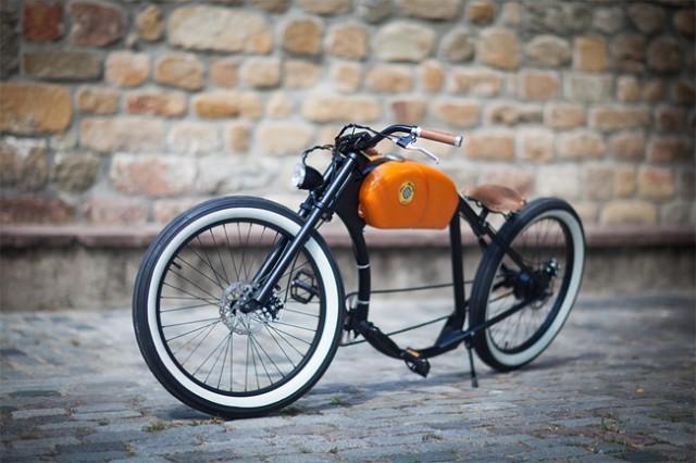 西班牙复古电动自行车-工业创意设计