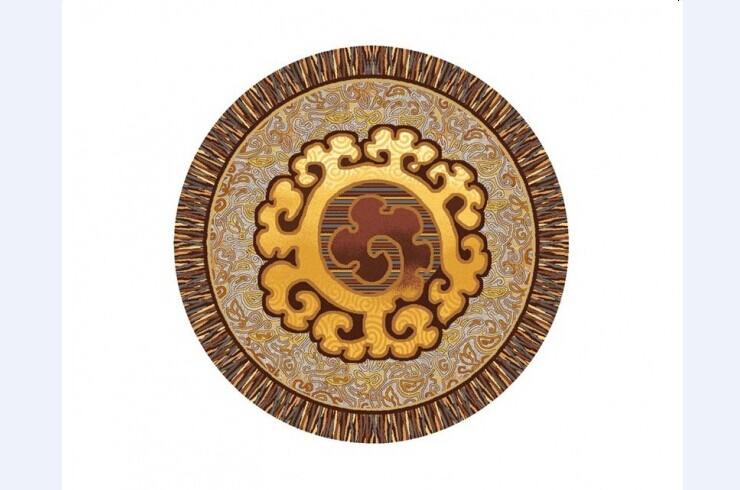 欧式圆形地毯材质贴图